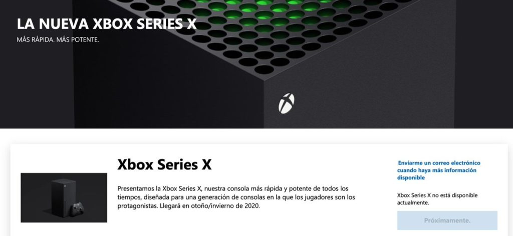 Pré venda Xbox Series X