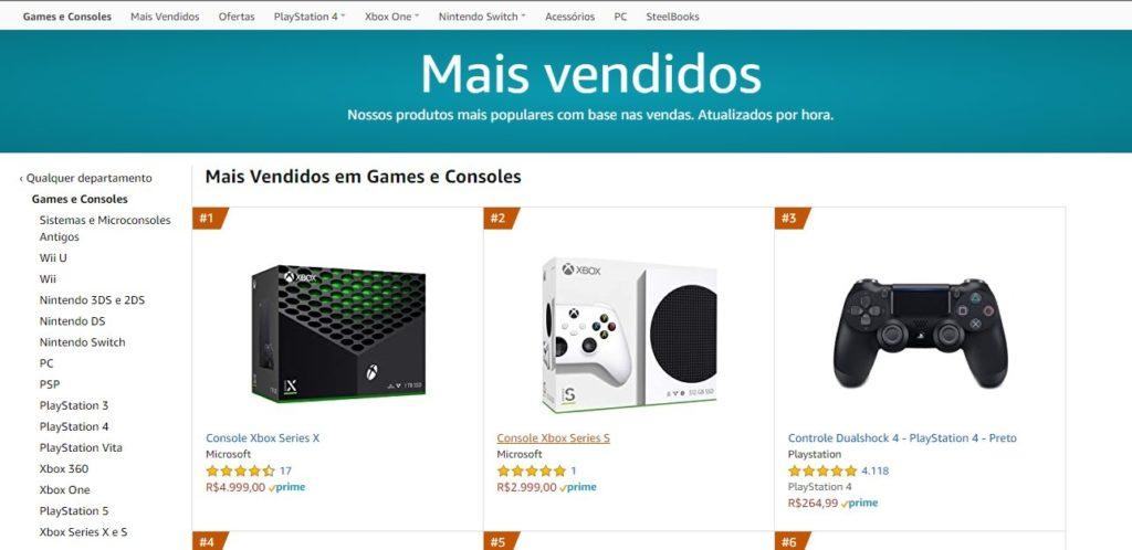 Amazon Brasil Xbox Series X Xbox Series S