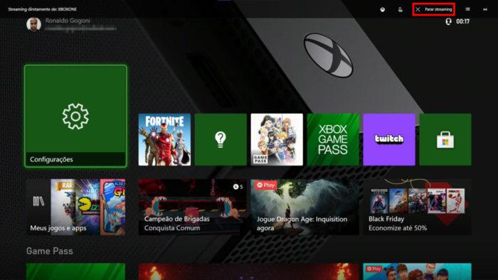 Tela Xbox One