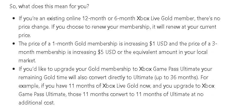 Xbox Live Preço