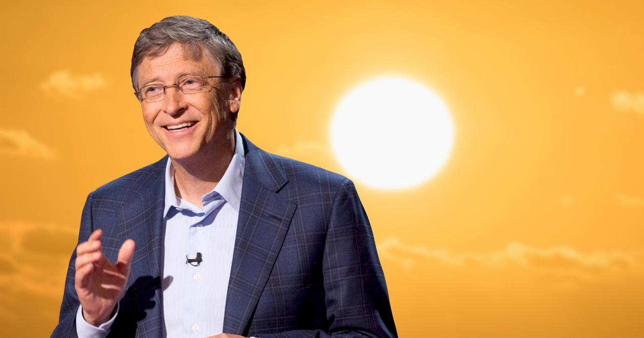 Bill Gates financia tecnologia capaz de escurecer o sol