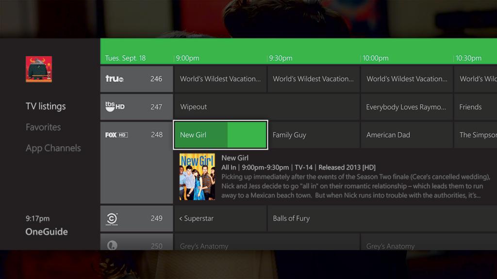 Xbox OneGuide