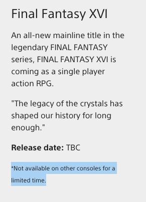 Final Fantasy XVI Store