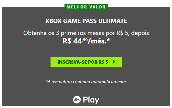 EA Play Promocao