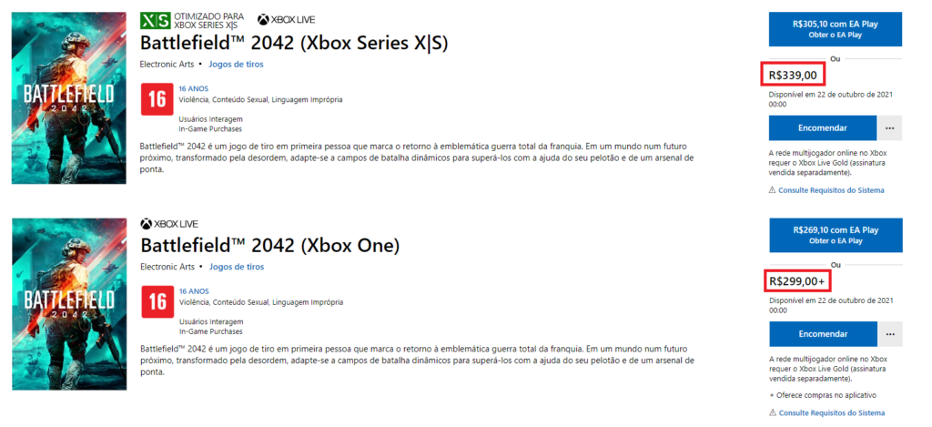 BF2042 Xbox
